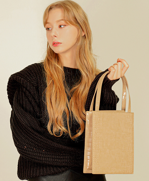 [록체] Lowell Tote Bag Beige